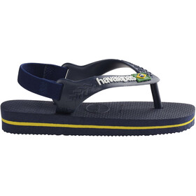 havaianas Brasil Logo II Chaussures Enfant, navy blue/citrus yellow
